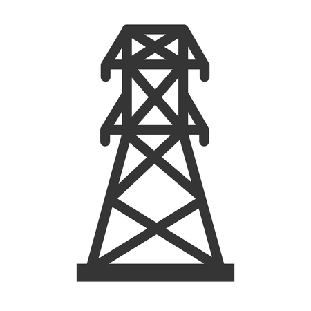 energy tower industry electricity structure building silhouette vector illustration