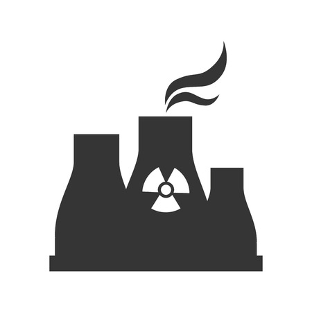 reactor: nuclear reactor plant power industry production silhouette vector illustration Illustration