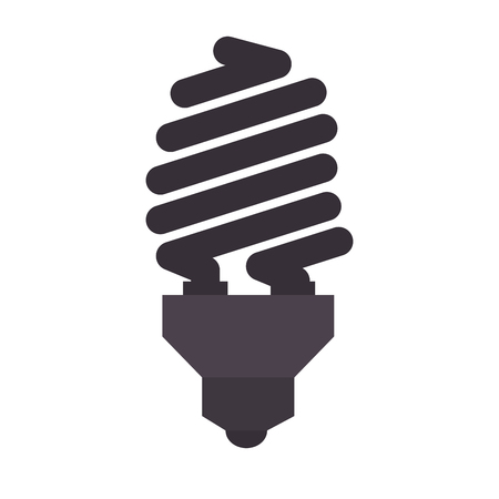 efficient: bulb power light energy electricity efficient object  vector illustration isolated