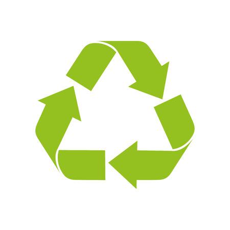 recycling symbol: recycling symbol green ecology enviromental arrow nature vector illustration