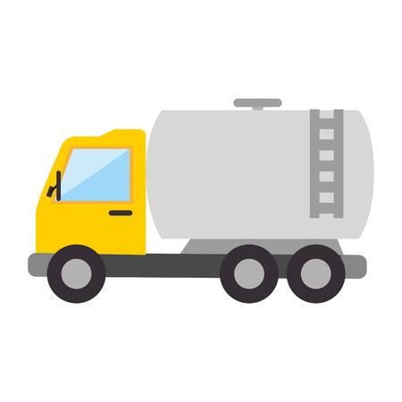 vrachtwagen tankstation vracht olie voertuig industrie vectorillustratie Vector Illustratie