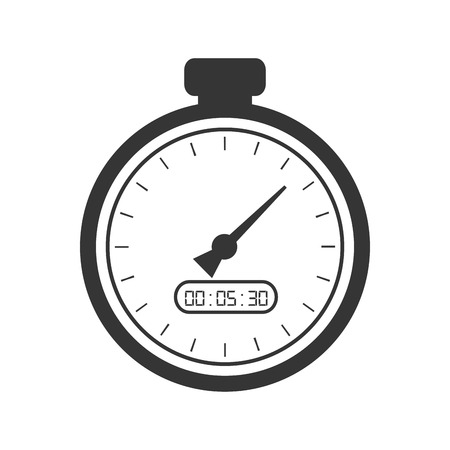 watch movement: chronometer time counter clock device sport training vector illustration