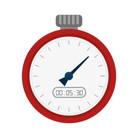 chronometer: chronometer time counter clock device sport training vector illustration