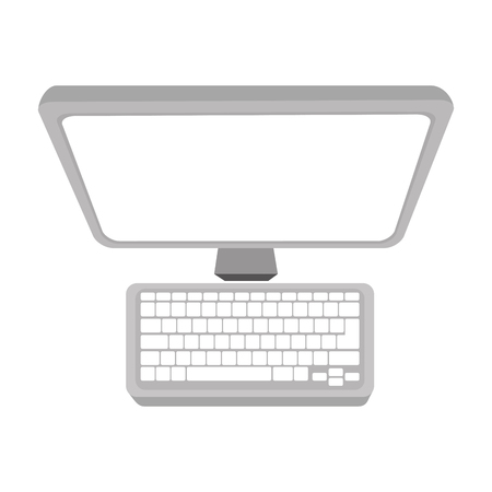 pc monitor: monitor screen computer pc technology and electronic device vector illustration