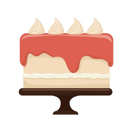 taste: cake dessert food pastry bakery sweet taste vector illustration