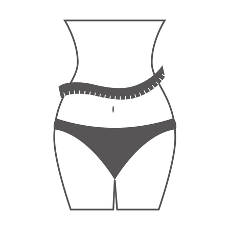 measurements: body female fitness lifestyle meter measurements vector illustration