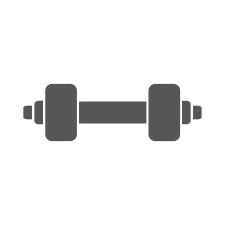dumbbell weights gym equipment fitness lifestyle silhouette vector illustration Illustration