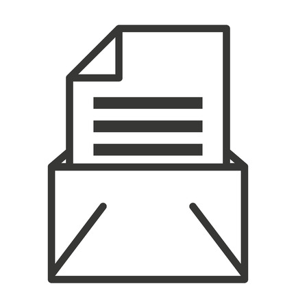 spamming: envelope isolated icon design, vector illustration graphic Illustration
