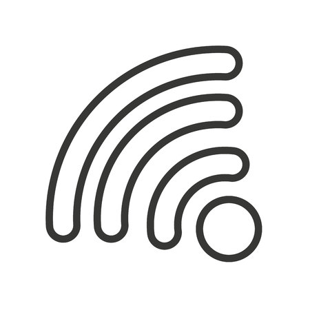 antena: wifi waves signal icon vector isolated graphic