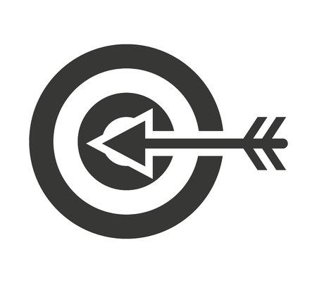 penetracion: diana flecha aislado icono de ilustración vectorial de diseño