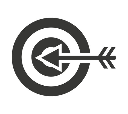 penetracion: diana flecha aislado icono de ilustraci�n vectorial de dise�o
