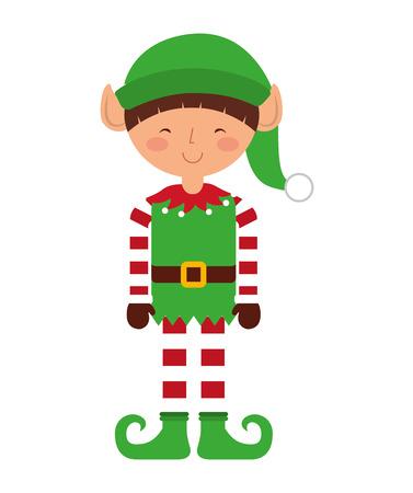 santa helper: christmas elf character isolated icon vector illustration design
