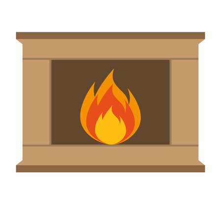 chimney flame isolated icon vector illustration design