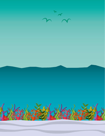 seabed: seabed landscape isolated icon vector illustration design