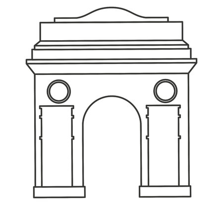 architectural styles: roman construction classic isolated icon vector illustration design Illustration