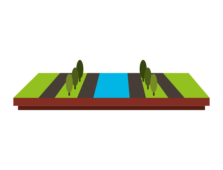 terrain: terrain isometric isolated icon vector illustration design