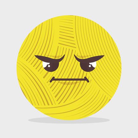 yarns: stitching yarns character icon vector illustration graphic Illustration