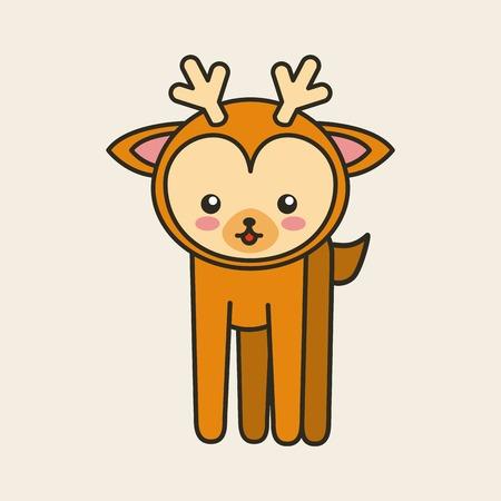 tender: cute reindeer tender isolated icon vector illustration design Illustration