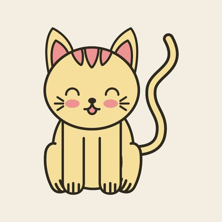 tender: cute cat tender isolated icon vector illustration design