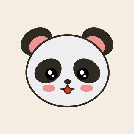 tender: cute bear panda tender isolated icon vector illustration design