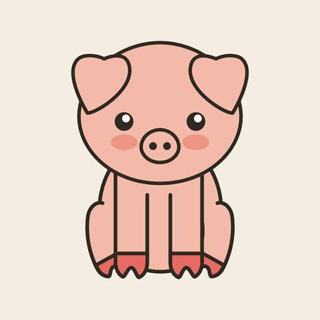 tender: cute pig tender isolated icon vector illustration design Illustration