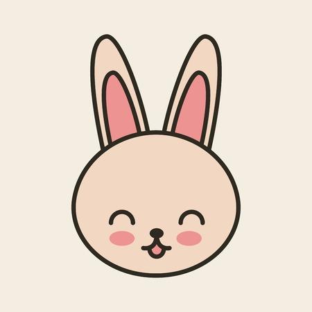tender: cute rabbit tender isolated icon vector illustration design