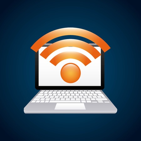 wifi connection service isolated icon vector illustration design Illustration