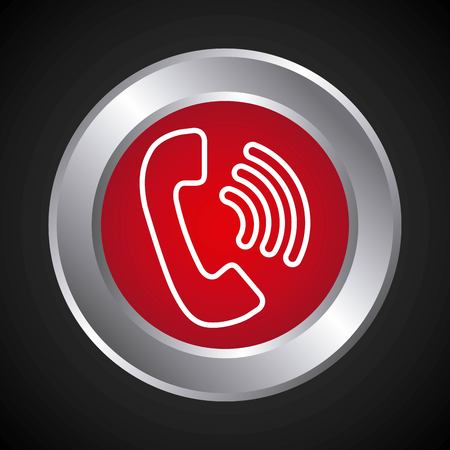 telephone service button isolated icon vector illustration design