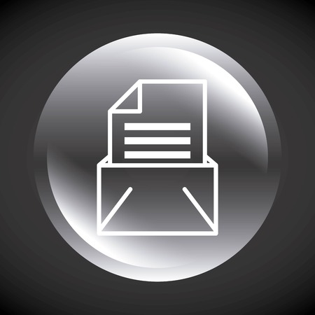 envelope mail send message isolated icon vector illustration design