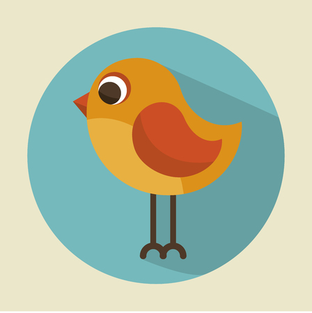 cute bird beautiful icon over beige background, Vector illustration
