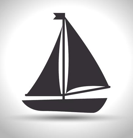 coastal: boat wood marine icon vector illustration graphic
