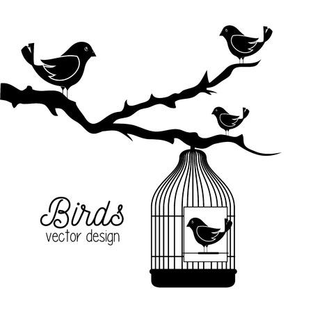 cute ornamental bird icon vector illustration design