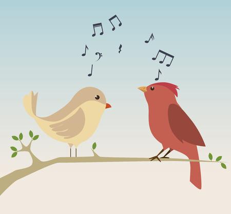 かわいい装飾的な鳥のアイコン ベクトル イラスト デザイン