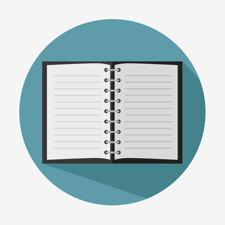 paper note: note book paper icon vector illustration graphic