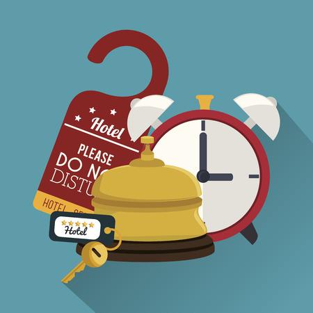 best hotel set services icons vector illustration design Illustration