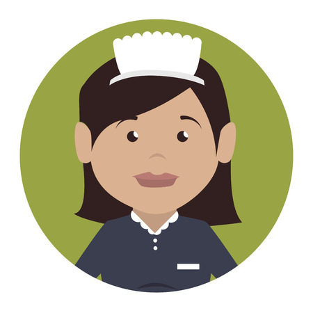hotel staff: housekeeper service hotel isolated icon vector illustration design