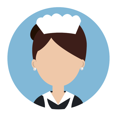 housekeeper: housekeeper service hotel isolated icon vector illustration design