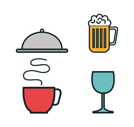 restaurant menu set icons vector illustration design