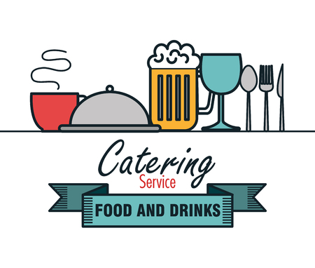 catering food: catering delicious food icon vector illustration design