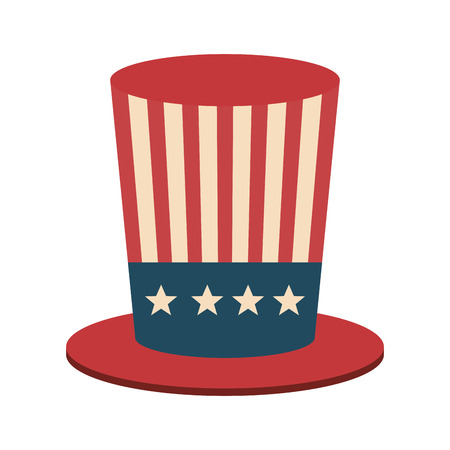 united states of america hat icon vector illustration design Illustration