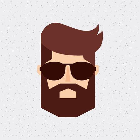 man head: head man hipster style isolated icon vector illustration design