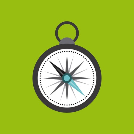 direction magnet: compass device guide isolated icon vector illustration design