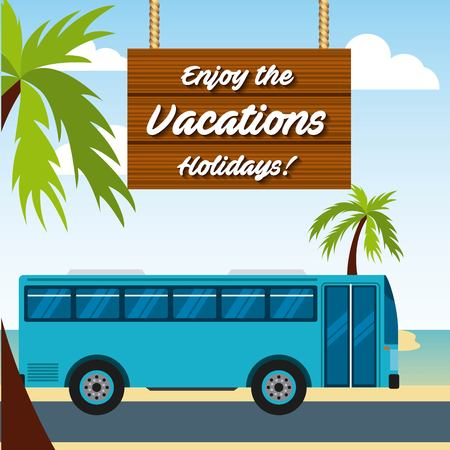 enjoy vacations travel isolated icon vector illustration design Illustration