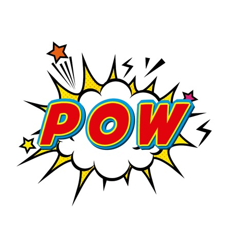 pow: pow comic pop art style vector illustration design Illustration