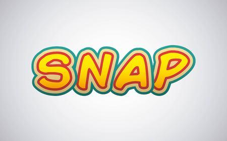 snap: snap comic pop art style vector illustration design