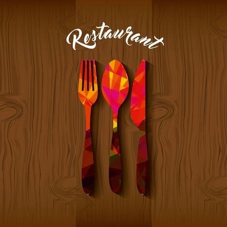 coltelleria strumenti menu ristorante illustrazione vettoriale illustrazione