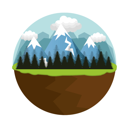 sky and grass: beautiful landscape background icon vector illustration design