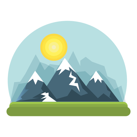 beautiful landscape background icon vector illustration design