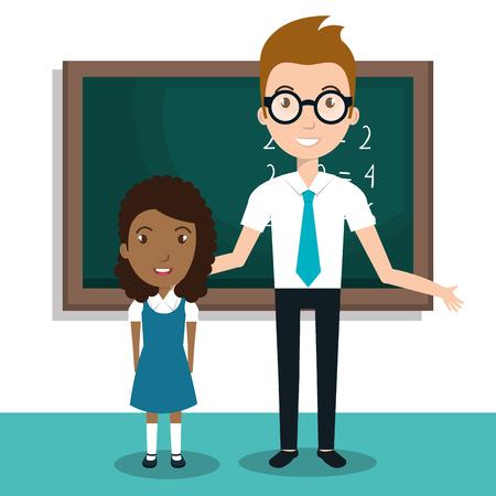 student school teacher icon vector illustration design