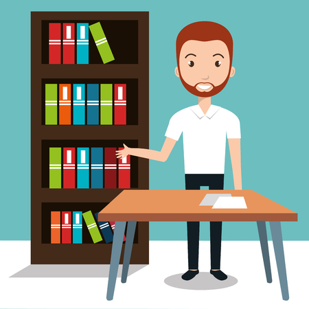 case studies: teacher school classroom icon vector illustration design